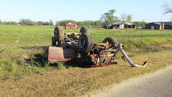 Wreck in the 6000 block of South Springhill Road in Lucy
