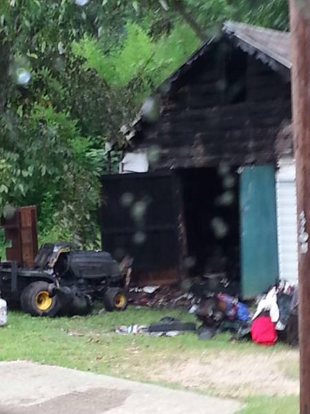 Shed Fire Reported at 500 Marbury Street