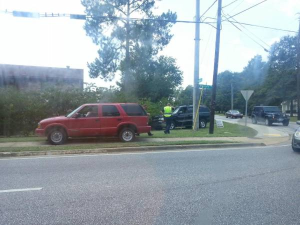 Minor Two Vehicle Wreck on Westgate at Whatley