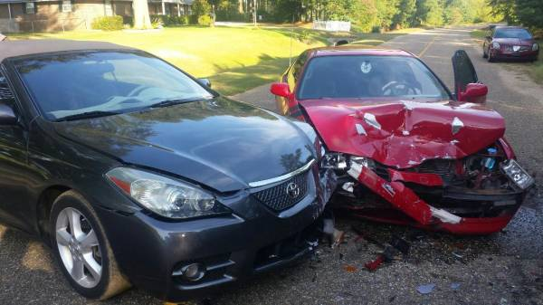 Two Vehicle Crash on Iris Road