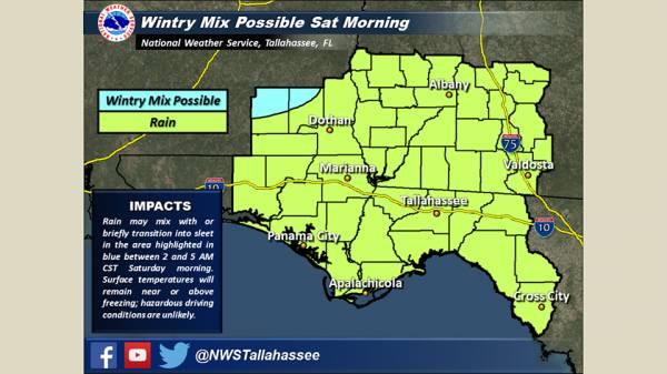 Wintry Precipitation: SE Alabama