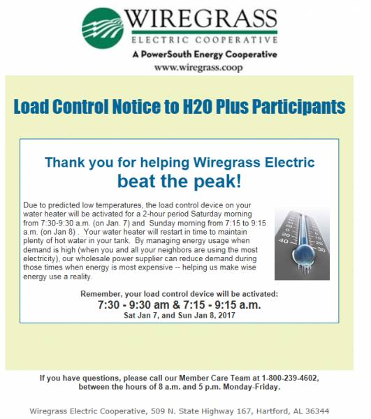 Wirgrass Electric Says Thank You