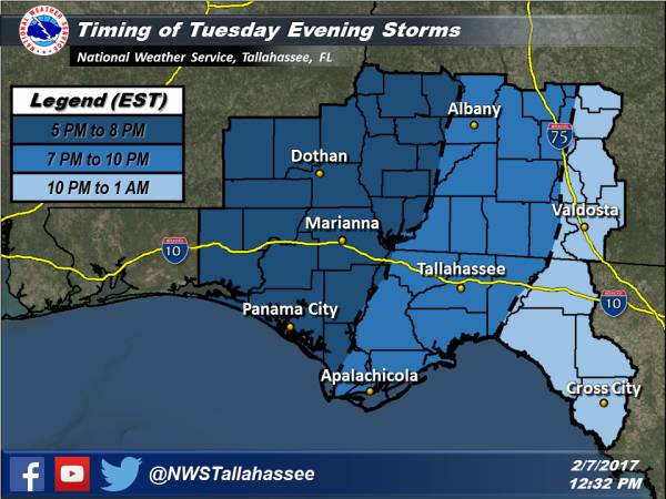 Severe Weather Updated Timing and Threat Graphic
