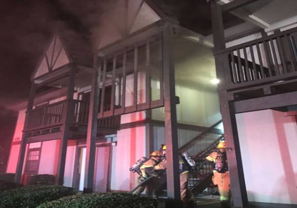 Last Night Dothan Fire Responded to a Structure Fire at Field Crest Apartments