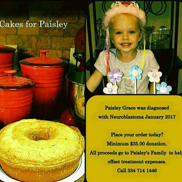 CAKES FOR PAISLEY...PRAYERS FOR PAISLEY