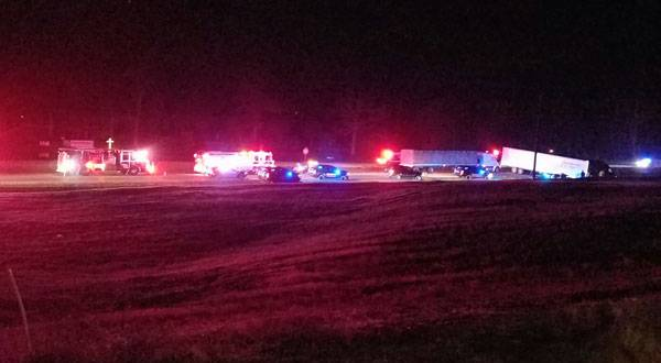 UPDATED W VIDEO.   Two Sheriff Deputies Struck By Semi