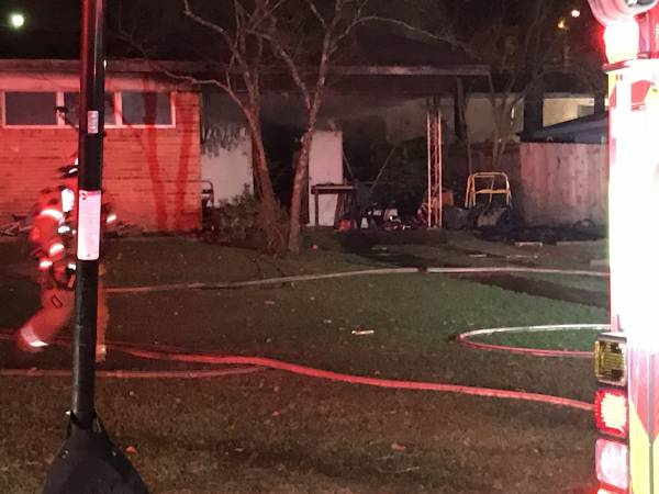 Updated with Video.. Structure Fire at 1105 Agutha Drive