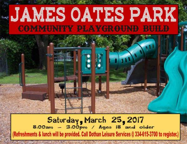 James Oates Playground Community Build