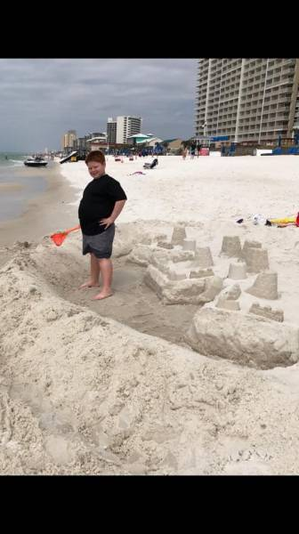 Panama City Beach Police APPREHEND The Sand Castle BANDIT Kid