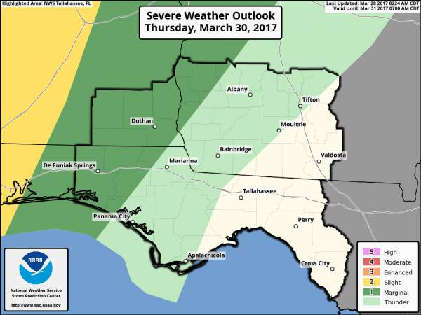 Severe Weather Possible Thursday Night to Friday