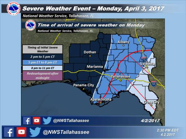 Update on Severe Weather Potential for Monday