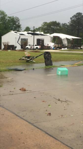 UPDATED at 1:18 PM . . . .Tornado Touch Down near White Oak