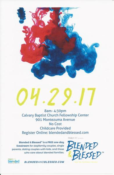 Calvary Church to Host Blended & Blessed