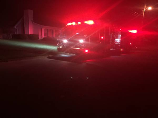 11:55 PM. Structure Fire Reported On Creekwood Drive