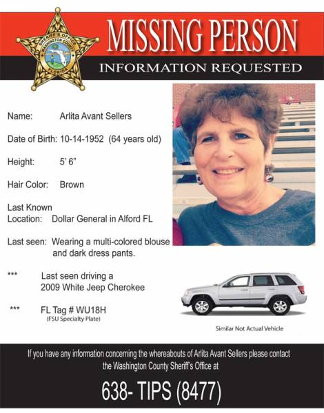 UPDATED: Missing Person in Washington County