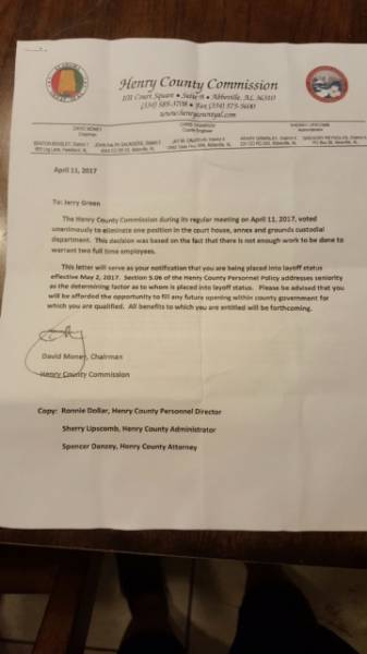 UPDATED with Letter....It Ain't A Good Day To Be A Henry County Commissioner - Some Very MAD - MAD - MAD Folks In Henry County At Them