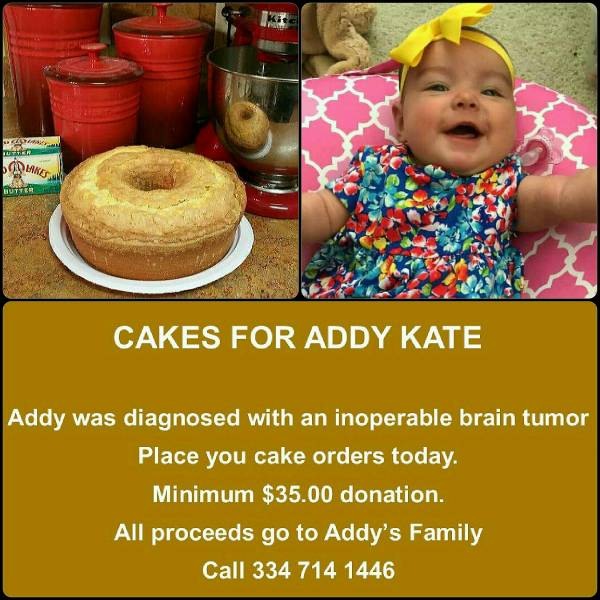 Cakes For Addy Kate..UPDATE...YOU CAN HELP THIS FAMILY  She is 3 months old and diagnosed with a inoperable brain tumor