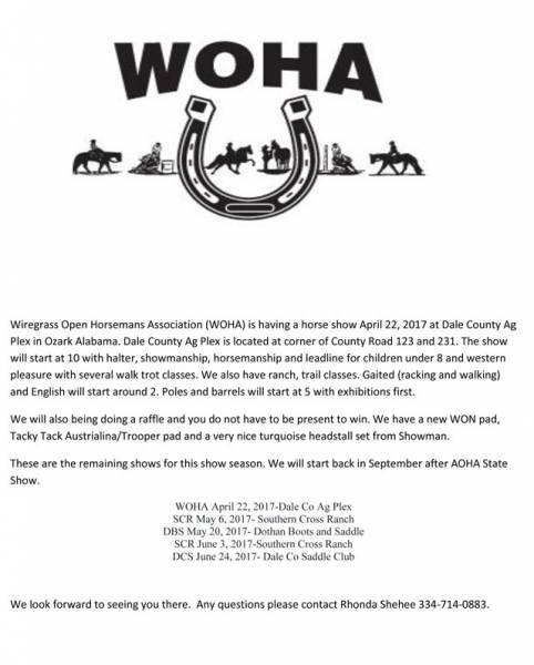WOHA Show Set for April 22nd
