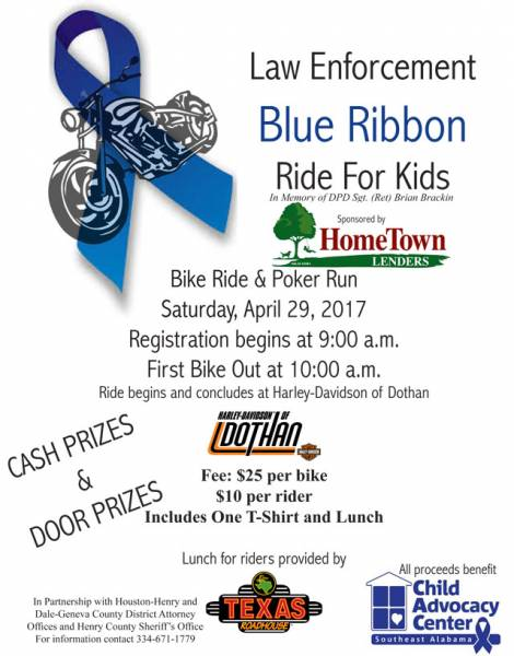 Law Enforcement Blue Ribbon Ride for Kids
