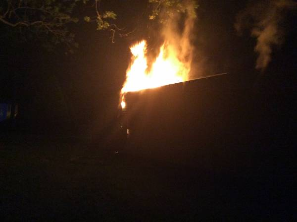 10:34 PM... Trailer Fire at 5725 County Road 203 in Rehobeth