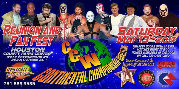 Continental championship Wrestling reunion show.