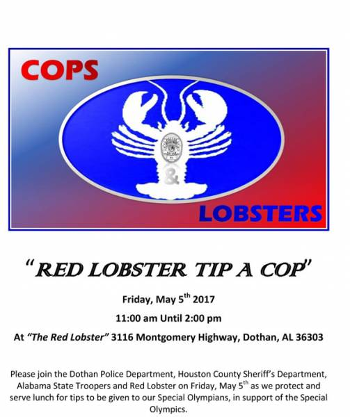 Tip -A-Cop at Red Lobster