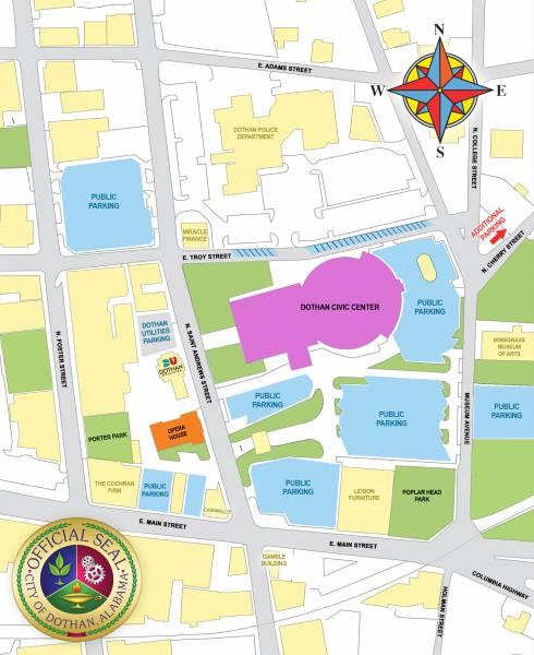 Parking Map for Will Graham Celebration