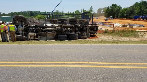 UPDATED @ 1:35 PM...Overturned Concrete Truck With Entrappment In Ozark