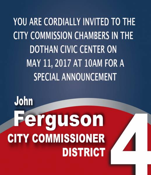 Dothan Commissioner John Ferguson Issues Invitation