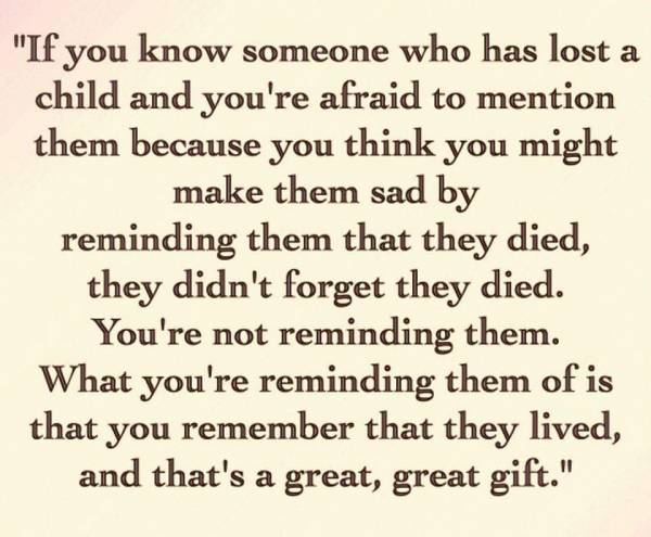 Remembering All Mothers Who Have Lost A Child