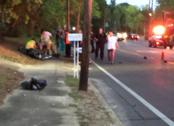 Scene Photographs From Traffic Fatality - Motorcycle - This Past Thursday In Dothan