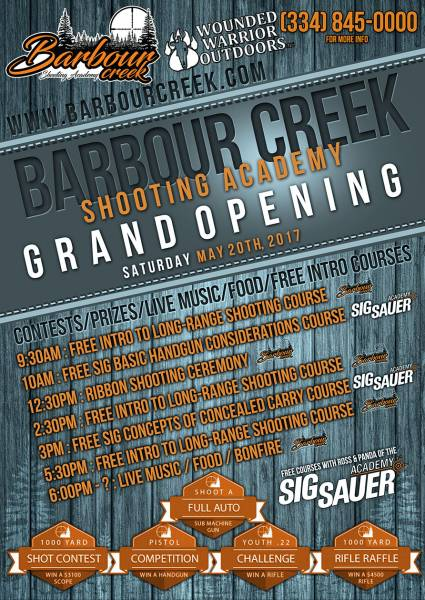 Barbour Creek Grand Opening - TOMORROW!