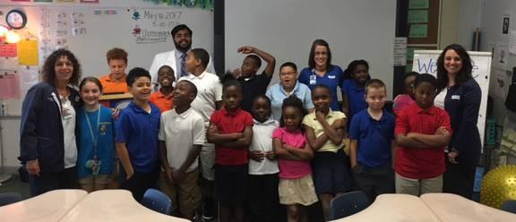 Nurses address elementary students