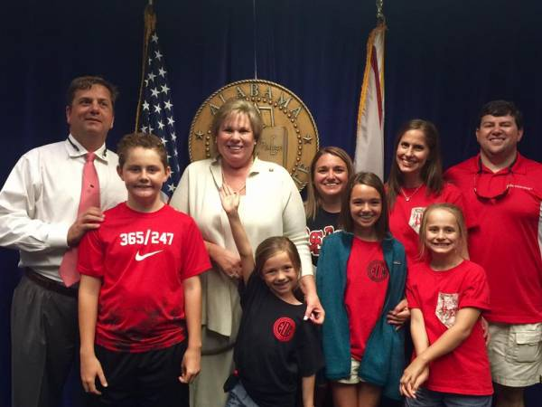 Senator Harri Anne Smith Gets Visitors At Alabama Legislature