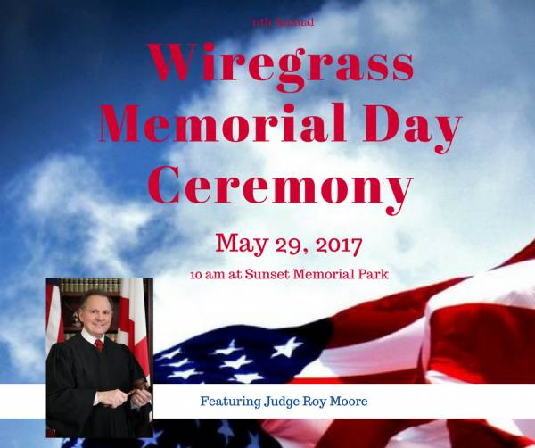Wiregrass Area 11th Annual Memorial Day Ceremony