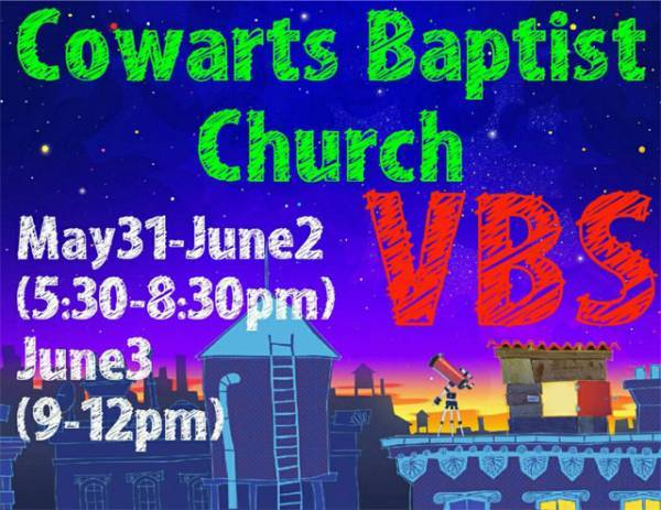 Cowarts Baptist VCBS Starts Today