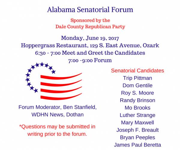 Senatorial Forum sponsored by the Dale County Republican Party