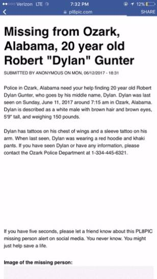!MISSING TEEN IN OZARK!