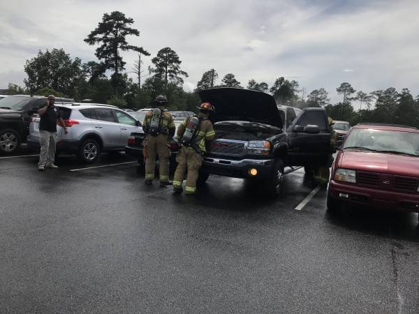 Vehicle Fire in Medical Center Employee Parking Lot