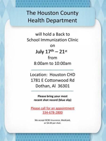 Back to School Immunization Clinic