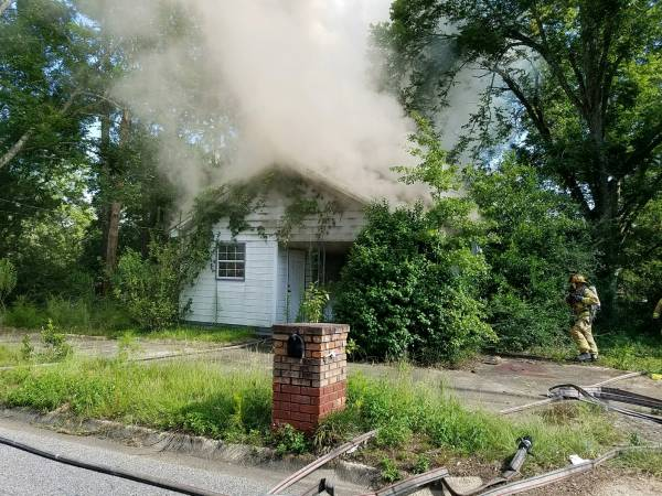 4:22 PM.. Structure Fire at 204 East Wilson Street
