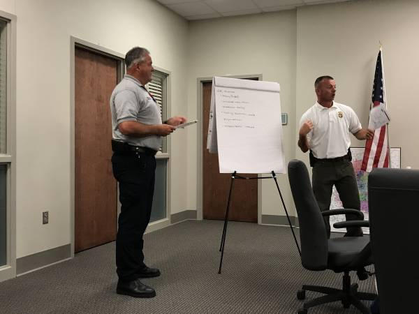 Captain Stephen Messer And Two Bob's Conduct Advanced Training