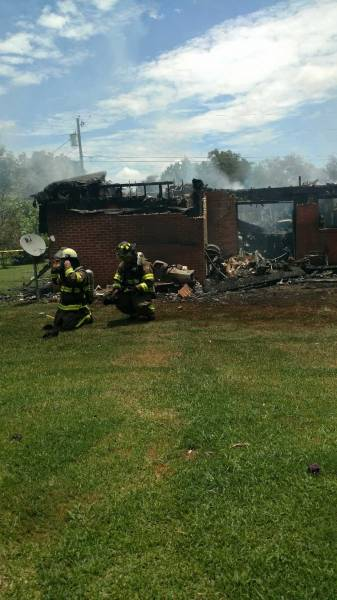 Report of a Structure Fire in Midland City