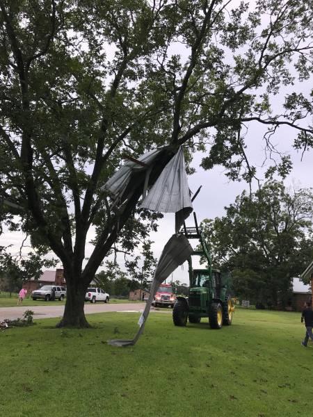 High Winds Blow Roof Off In Wicksburg