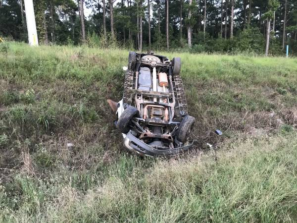 7:51 PM.  One Vehicle Overturned Highway 231 South - Patient Flown From Acene