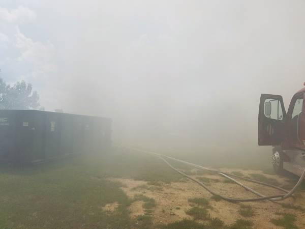 1:54 PM... Trailer Fire on Highland Drive in Malvern