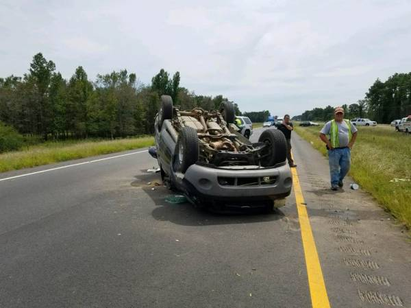 UPDATED @ 1:42 PM With Photos  Motor Vehicle Overturned on 231 with Entrapment
