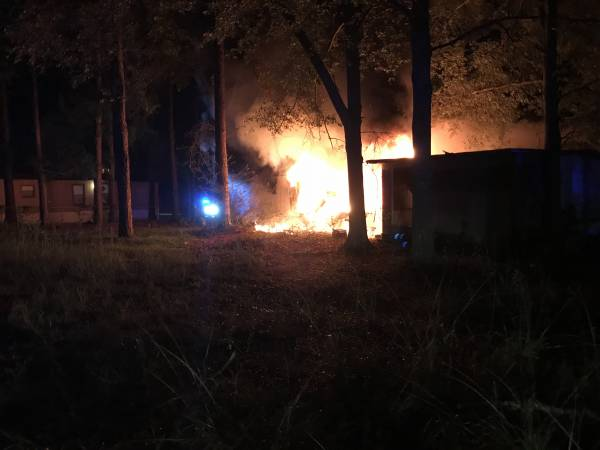 2:29 AM... Early Morning Fire Destroys Mobile Home