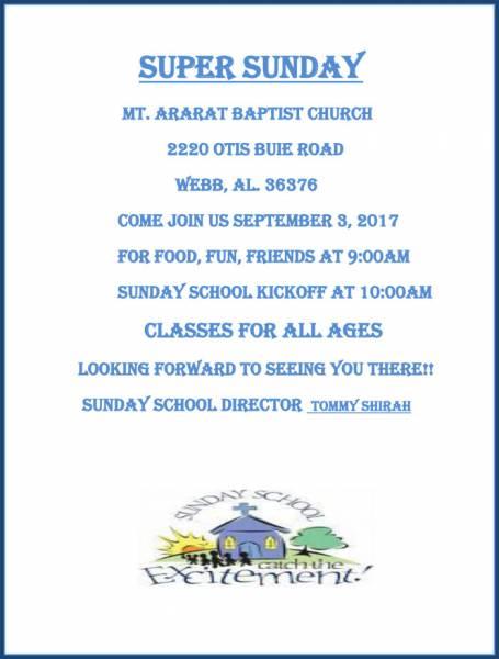 Super Sunday at Mt. Ararat Baptist Church