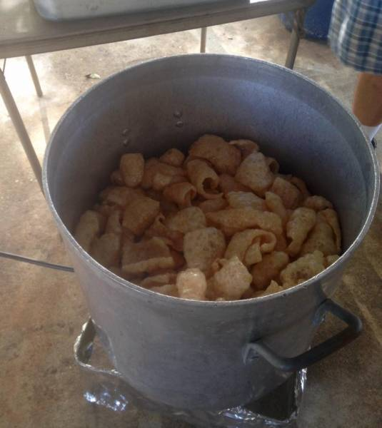 Home - Made Pork Skins ---These Things Are Good!